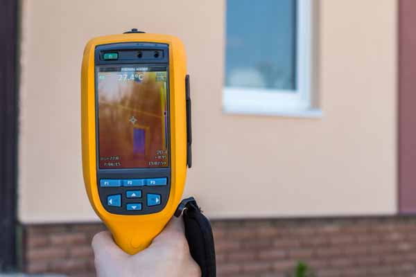 We use infrared scanners for home inspections in Dublin Ohio