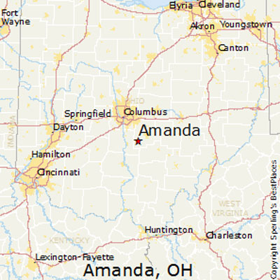 Map of Amanda Ohio